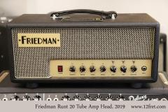 Friedman Runt 20 Tube Amp Head, 2019 Full Front View