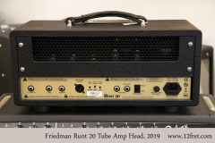 Friedman Runt 20 Tube Amp Head, 2019 Full Rear View