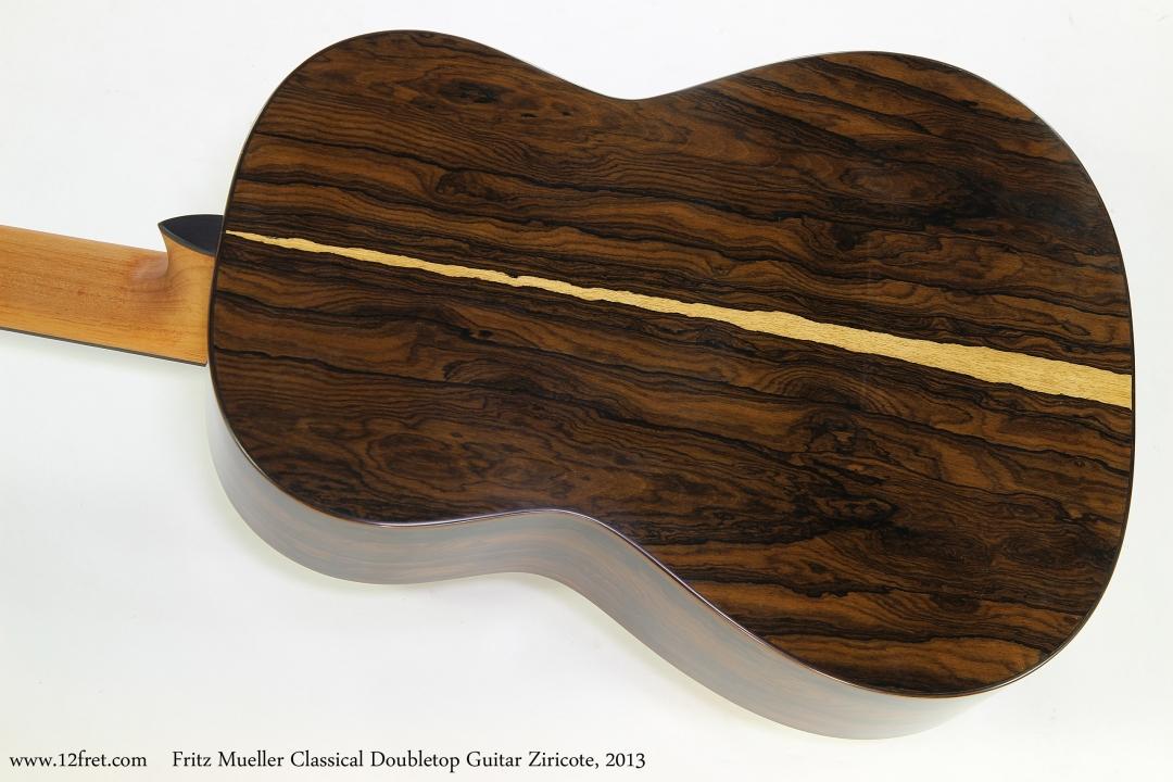 Fritz Mueller Classical Doubletop Guitar Ziricote, 2013  Back View