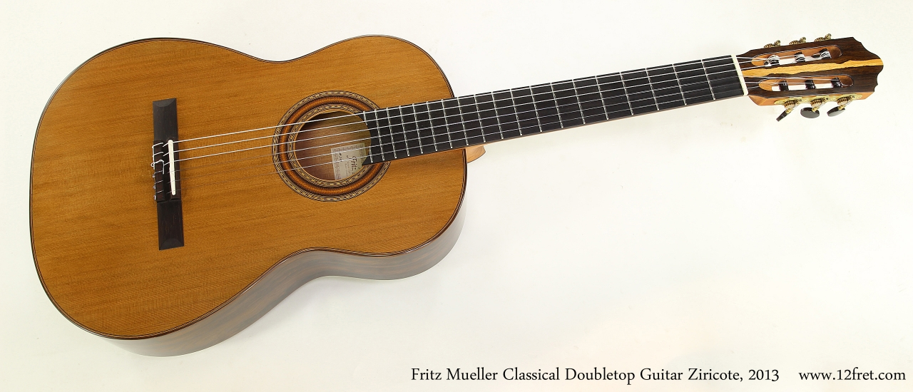 Fritz Mueller Classical Doubletop Guitar Ziricote, 2013  Full Front VIew