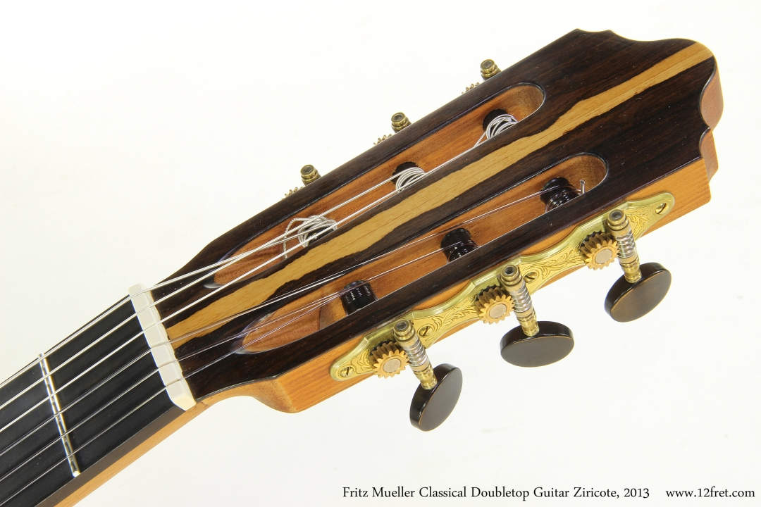 Fritz Mueller Classical Doubletop Guitar Ziricote, 2013  Head Front View
