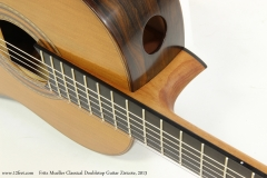 Fritz Mueller Classical Doubletop Guitar Ziricote, 2013  Elevated FIngerboard View