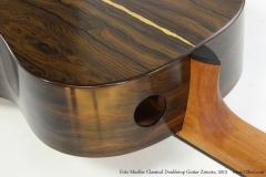 Fritz Mueller Classical Doubletop Guitar Ziricote, 2013  Heel View