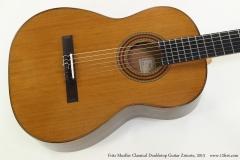 Fritz Mueller Classical Doubletop Guitar Ziricote, 2013  Top VIew