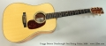 Froggy Bottom Dreadnought Steel String Guitar, 2006 Full Front View
