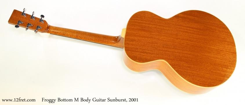Froggy Bottom M Body Guitar Sunburst, 2001   Full Rear View