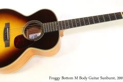 Froggy Bottom M Body Guitar Sunburst, 2001   Full Front View