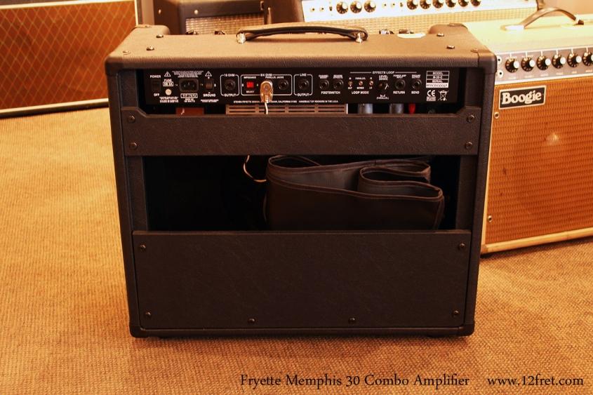 Fryette Memphis 30 Combo Amplifier, 2010 Full Rear View