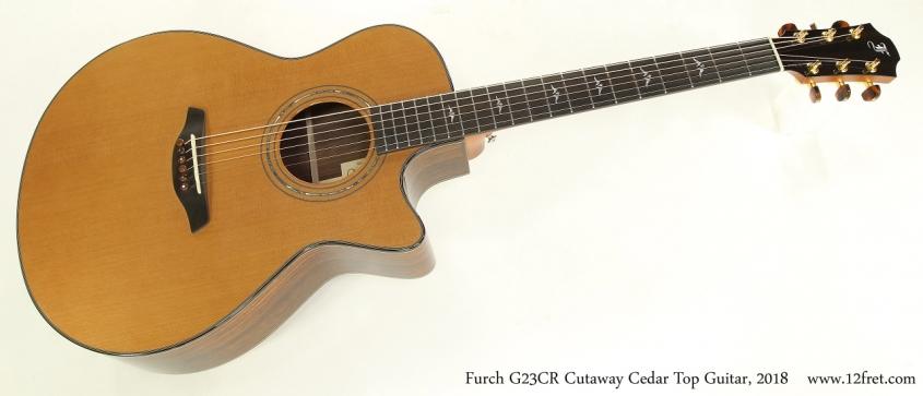 Furch G23CR Cutaway Cedar Top Guitar, 2018   Full Front View