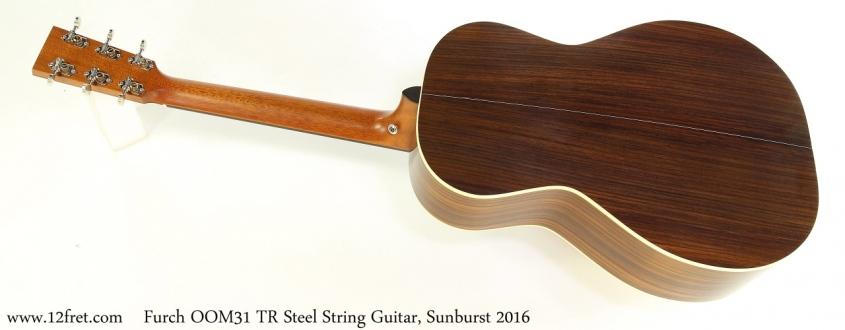 Furch OOM31 TR Steel String Guitar, Sunburst 2016 Full Rear View