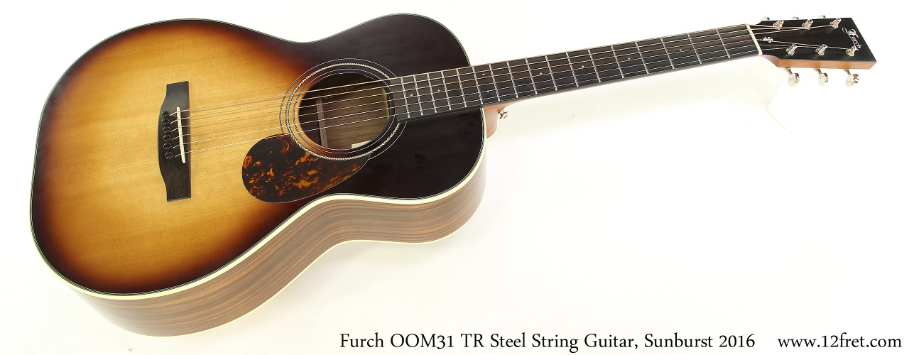 Furch OOM31 TR Steel String Guitar, Sunburst 2016 Full Front View