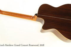 Furch Rainbow Grand Concert Rosewood, 2018 Full Rear View