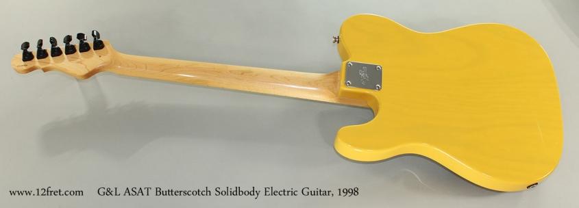 G&L ASAT Butterscotch Solidbody Electric Guitar, 1998 Full Rear View