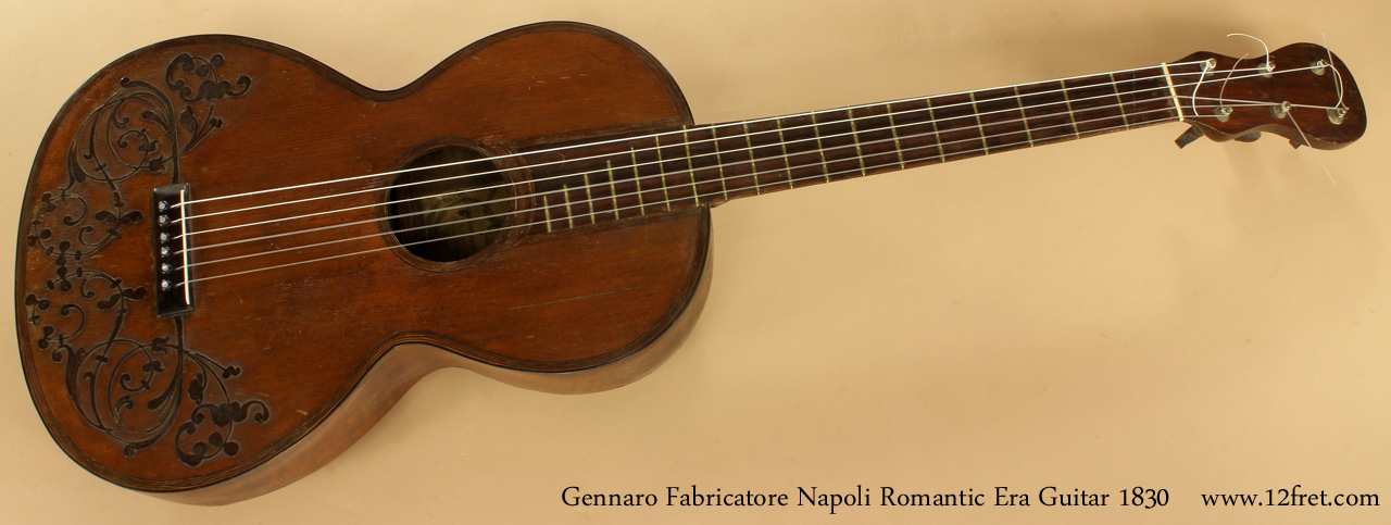 Gennaro Fabricatore Napoli Romantic Era Guitar 1830 full front view