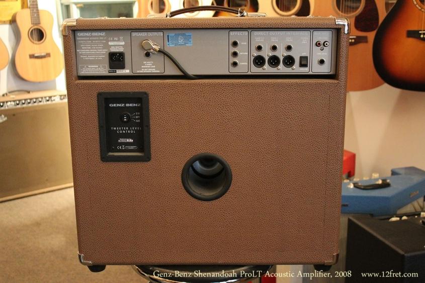 Genz-Benz Shenandoah ProLT Acoustic Amplifier, 2008 Full Rear View