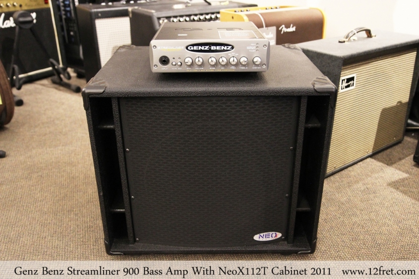 Genz Benz Streamliner 900 Bass Amp With NeoX112T Cabinet 2011 Full Front View