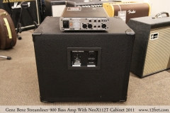 Genz Benz Streamliner 900 Bass Amp With NeoX112T Cabinet 2011 Full Rear View