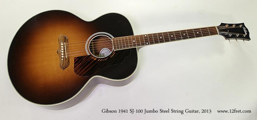 Gibson 1941 SJ-100 Jumbo Steel String Guitar, 2013 Full Front View