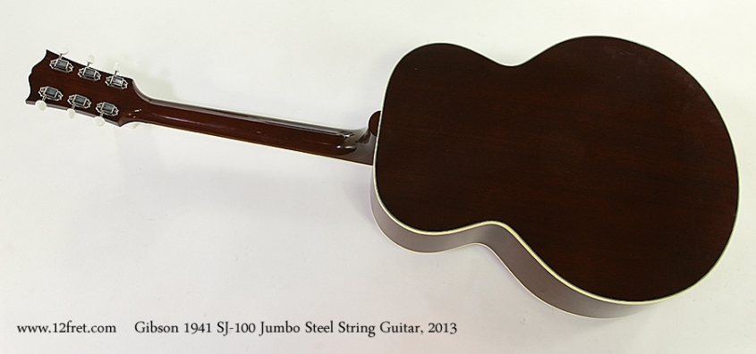 Gibson 1941 SJ-100 Jumbo Steel String Guitar, 2013 Full Rear View