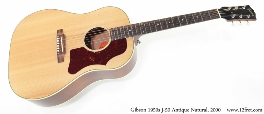 Gibson 1950s J-50 Antique Natural, 2000 Full Front View