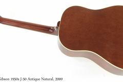 Gibson 1950s J-50 Antique Natural, 2000 Full Rear View