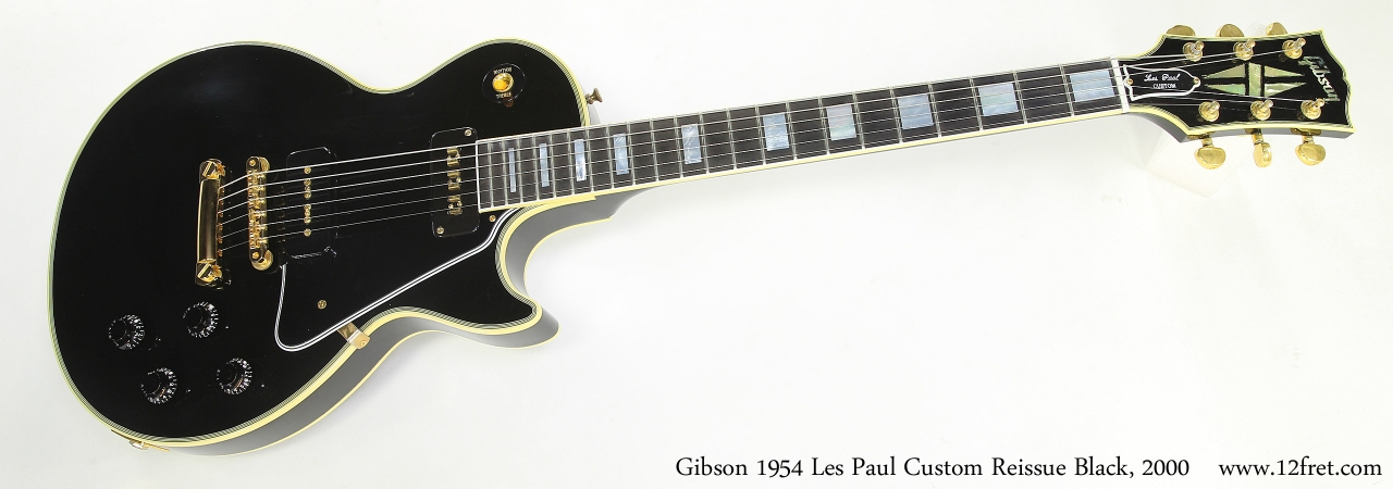 Gibson 1954 Les Paul Custom Reissue Black, 2000  Full Front View
