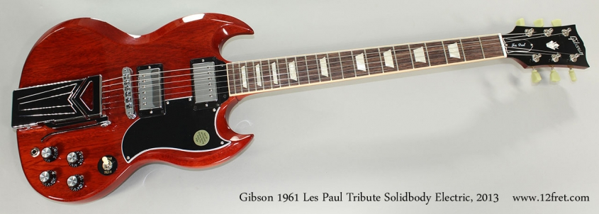 Gibson 1961 Les Paul Tribute Solidbody Electric, 2013 Full Front View