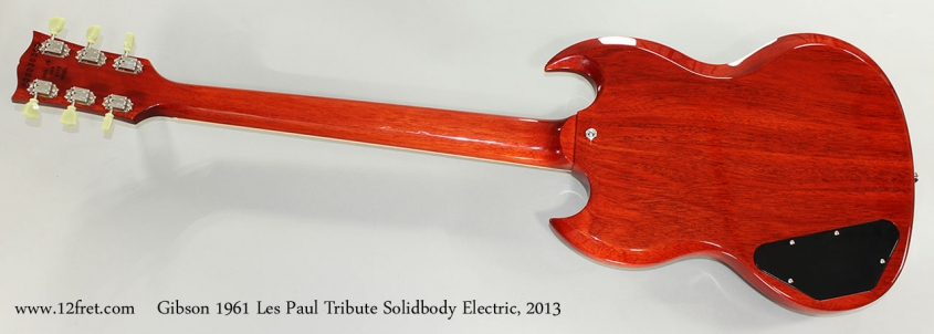 Gibson 1961 Les Paul Tribute Solidbody Electric, 2013 Full Rear View