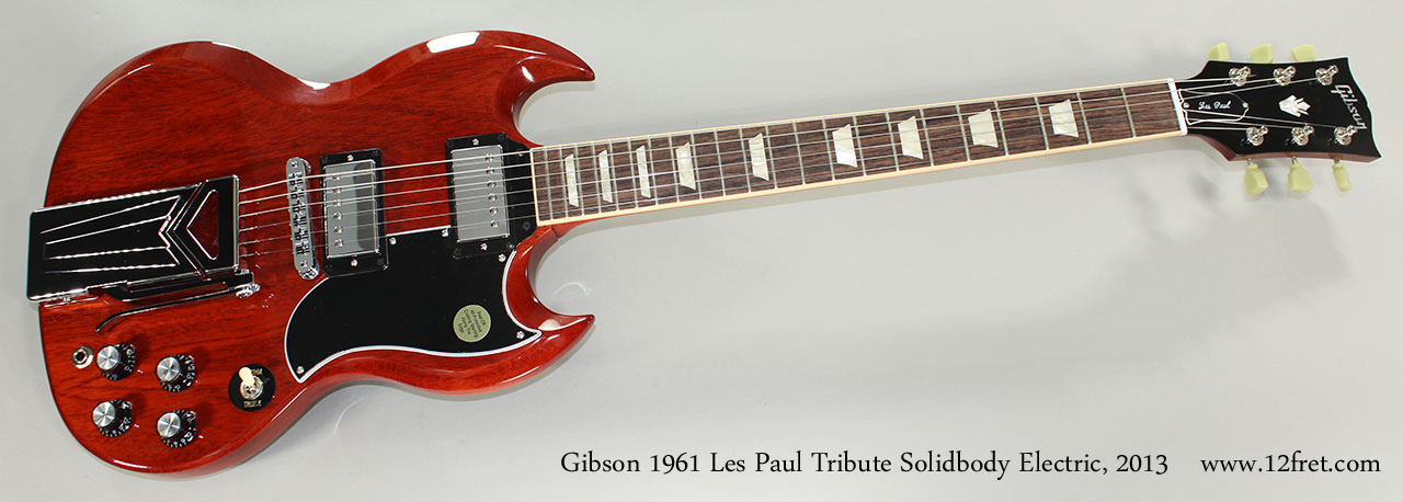 2013 gibson 1961 les paul tribute solidbody electric. Black Bedroom Furniture Sets. Home Design Ideas