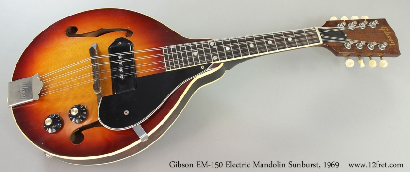 Gibson EM-150 Electric Mandolin Sunburst, 1969 Full Front View