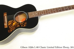 Gibson 1930s L-00 Classic Limited Edition Ebony, 2015 Full Front View