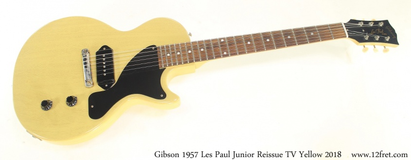 Gibson 1957 Les Paul Junior Reissue TV Yellow 2018 Full Front View