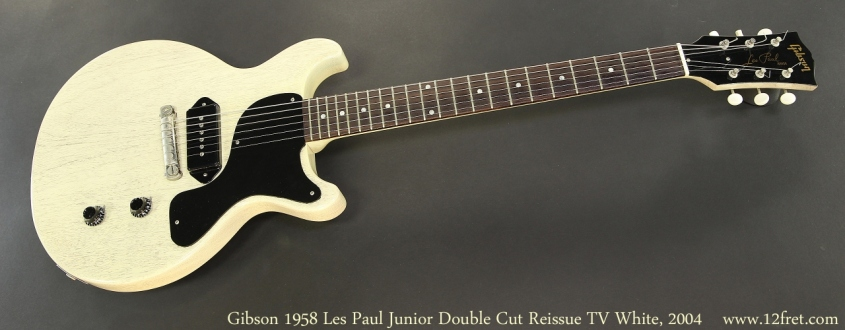 Gibson 1958 Les Paul Junior Double Cut Reissue TV White, 2004 Full Front View
