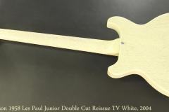 Gibson 1958 Les Paul Junior Double Cut Reissue TV White, 2004 Full Rear View