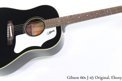 Gibson 60s J-45 Original, Ebony Full Front View