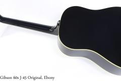 Gibson 60s J-45 Original, Ebony Full Rear View