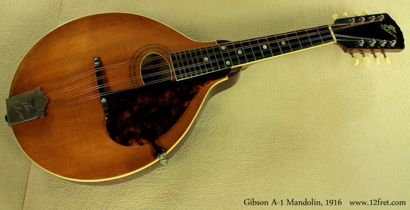 Gibson A-1 Mandolin, 1916 full front view
