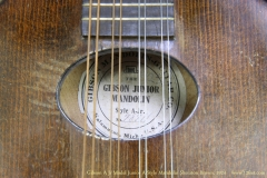 Gibson A Jr Model Junior A-Style Mandolin Sheraton Brown, 1924   Label View