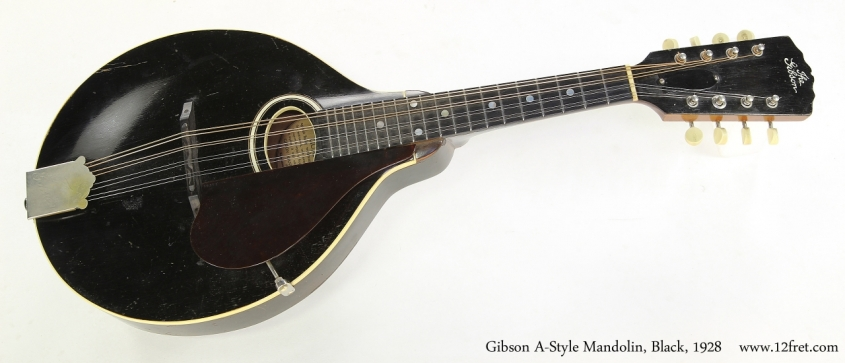 Gibson A-Style Mandolin, Black, 1928  Full Rear View