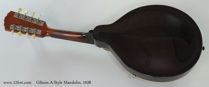 Gibson A-Style Mandolin, 1928 Full Rear VIew