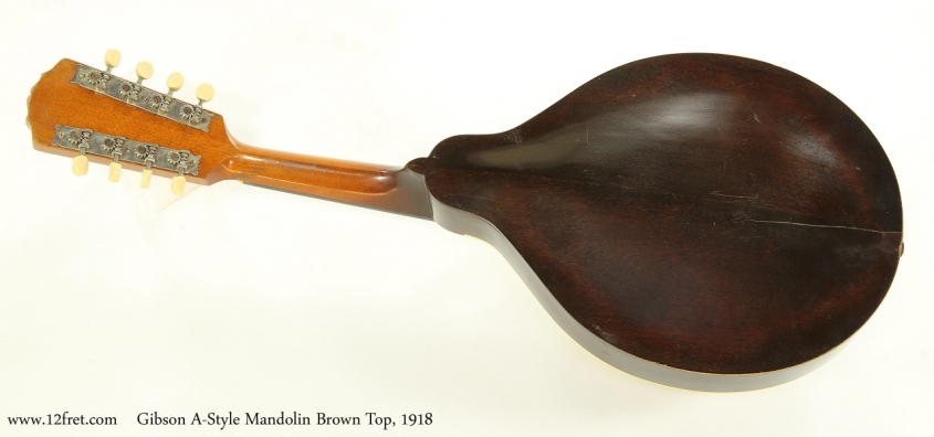Gibson A-Style Mandolin Brown Top, 1918  Full Rear View