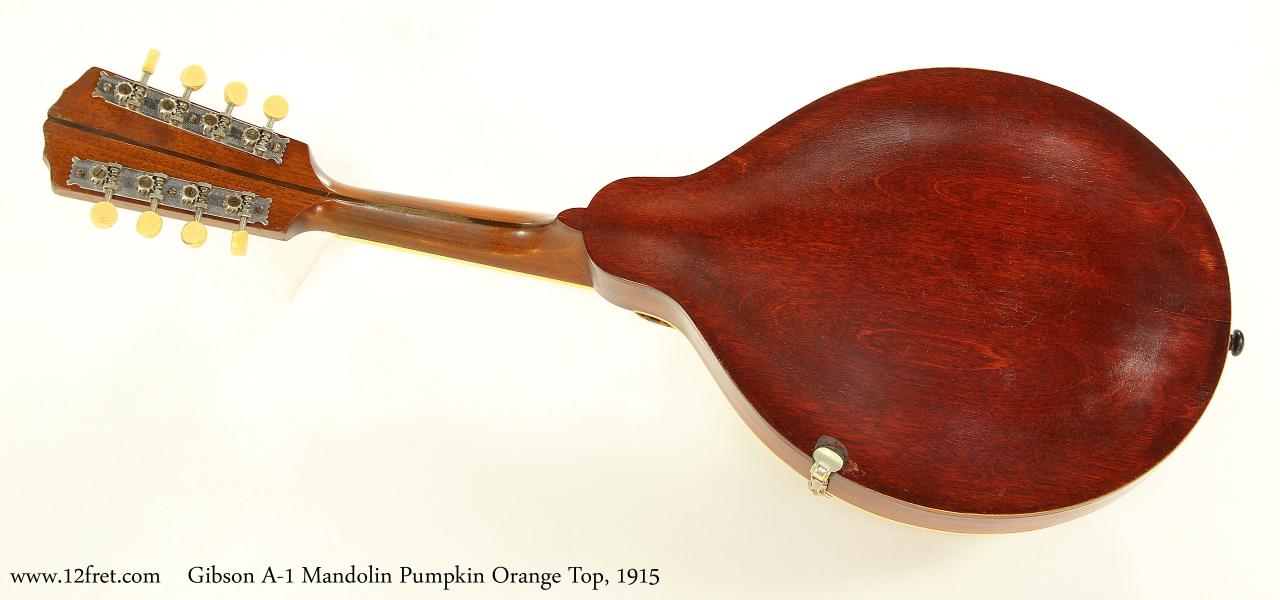 Gibson A-1 Mandolin Pumpkin Orange Top, 1915  Full Rear VIew
