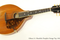 Gibson A-1 Mandolin Pumpkin Orange Top, 1915  Full Front View
