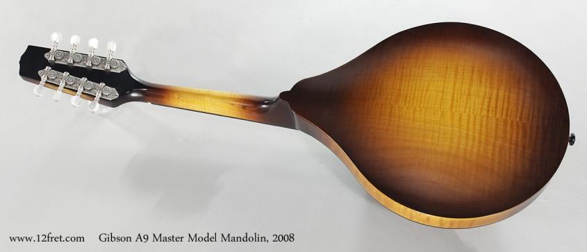 Gibson A9 Master Model Mandolin, 2008 Full Rear View