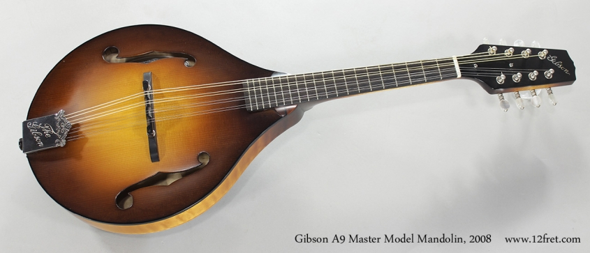 Gibson A9 Master Model Mandolin, 2008 Full Front View
