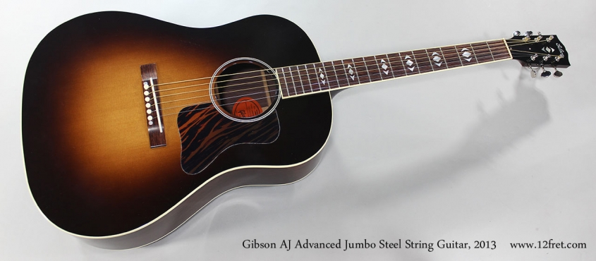 Gibson AJ Advanced Jumbo Steel String Guitar, 2013 Full Front View