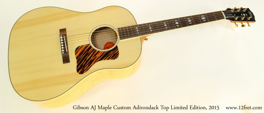 Gibson AJ Maple Custom Adirondack Top Limited Edition, 2015   Full Front View
