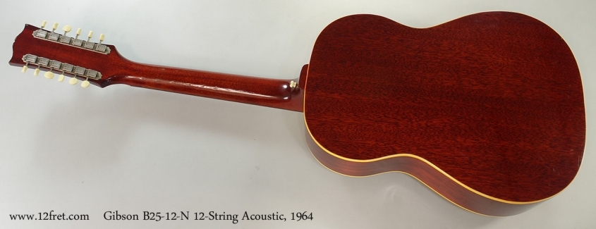 Gibson B25-12-N 12-String Acoustic, 1964 Full Rear View