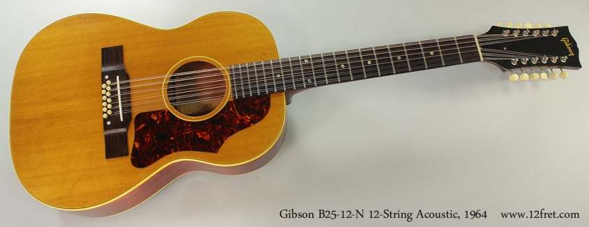 Gibson B25-12-N 12-String Acoustic, 1964 Full Front View