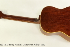 Gibson B25-12 12 String Acoustic Guitar with Pickup, 1965  Full  Rear View